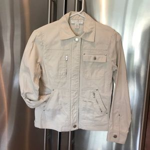 Khaki colored jean style jacket